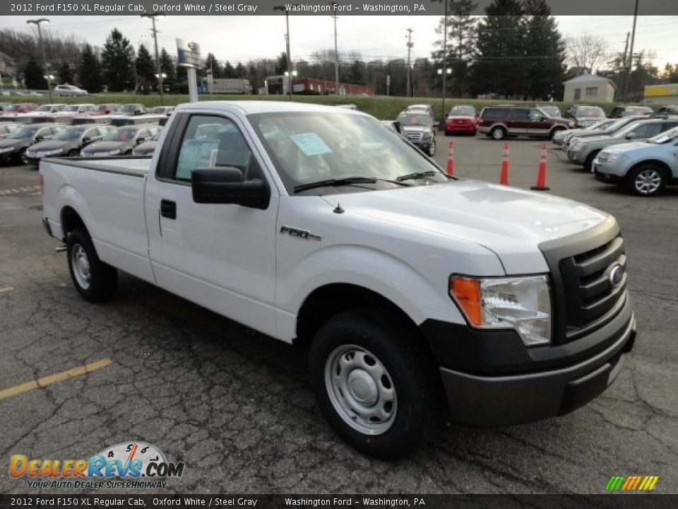 2012 ford f150 xl regular cab oxford white steel gray photo 6. Black Bedroom Furniture Sets. Home Design Ideas