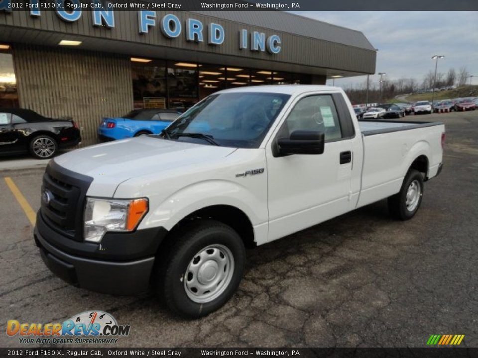 2012 ford f150 xl regular cab oxford white steel gray photo 8. Black Bedroom Furniture Sets. Home Design Ideas