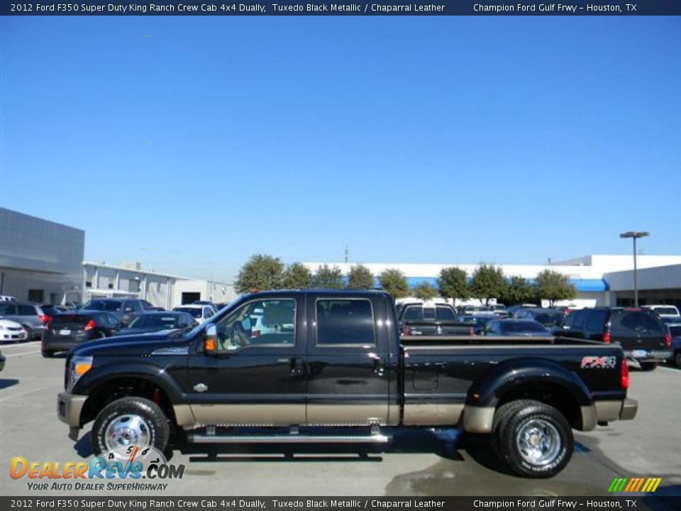 2012 ford f350 super duty king ranch crew cab 4x4 dually tuxedo black metallic chaparral. Black Bedroom Furniture Sets. Home Design Ideas