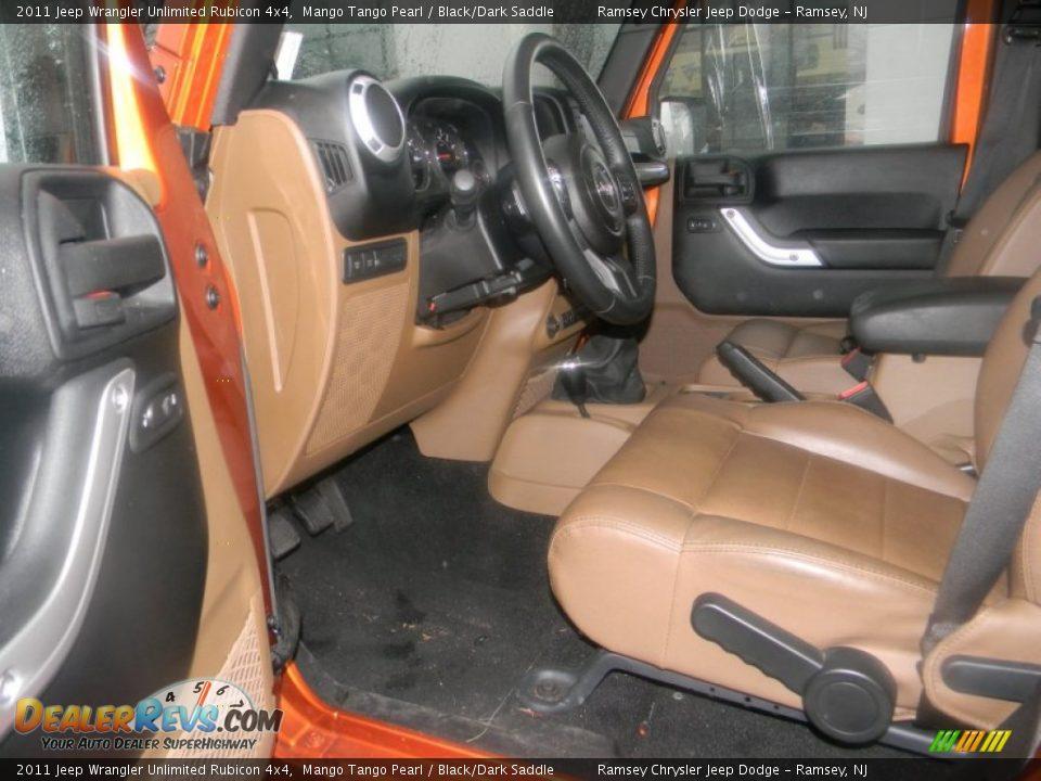 Black Dark Saddle Interior 2011 Jeep Wrangler Unlimited Rubicon 4x4 Photo 12