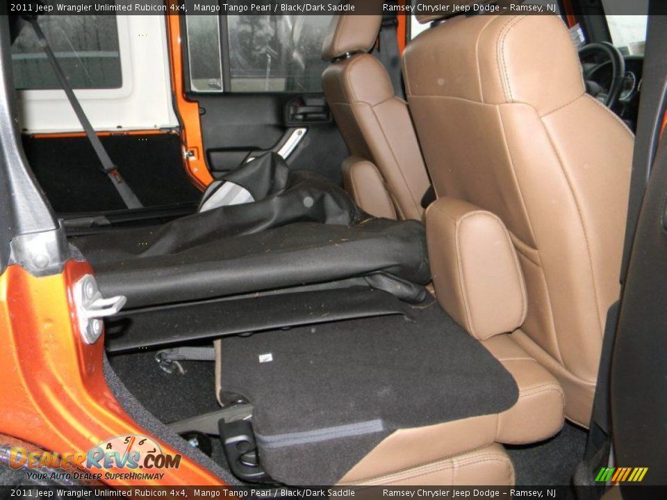 Black Dark Saddle Interior 2011 Jeep Wrangler Unlimited Rubicon 4x4 Photo 15