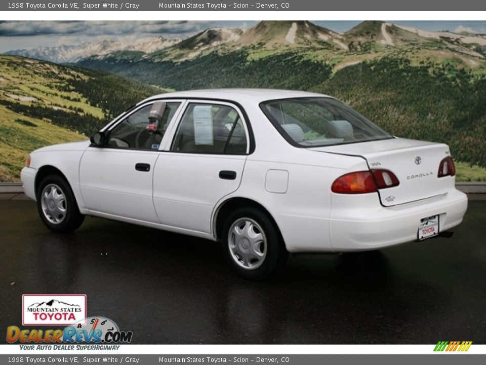 1998 Toyota Corolla Ve Super White Gray Photo 2