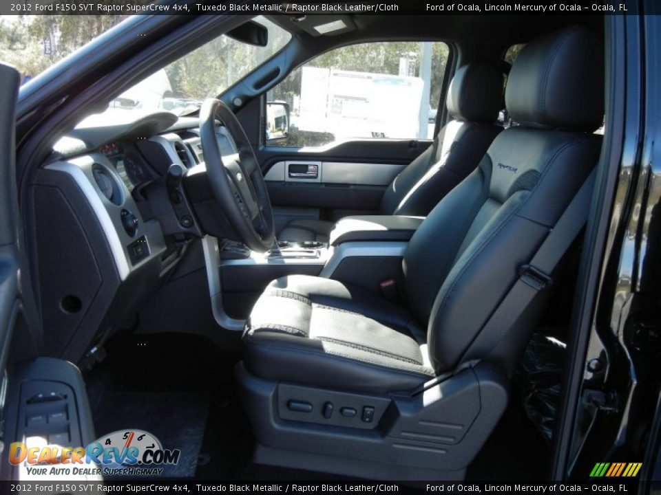 Raptor Black Leather Cloth Interior 2012 Ford F150 SVT