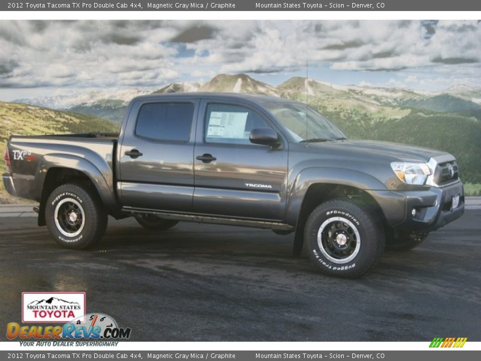 2012 toyota tacoma tx pro double cab 4x4 magnetic gray mica graphite photo 1. Black Bedroom Furniture Sets. Home Design Ideas