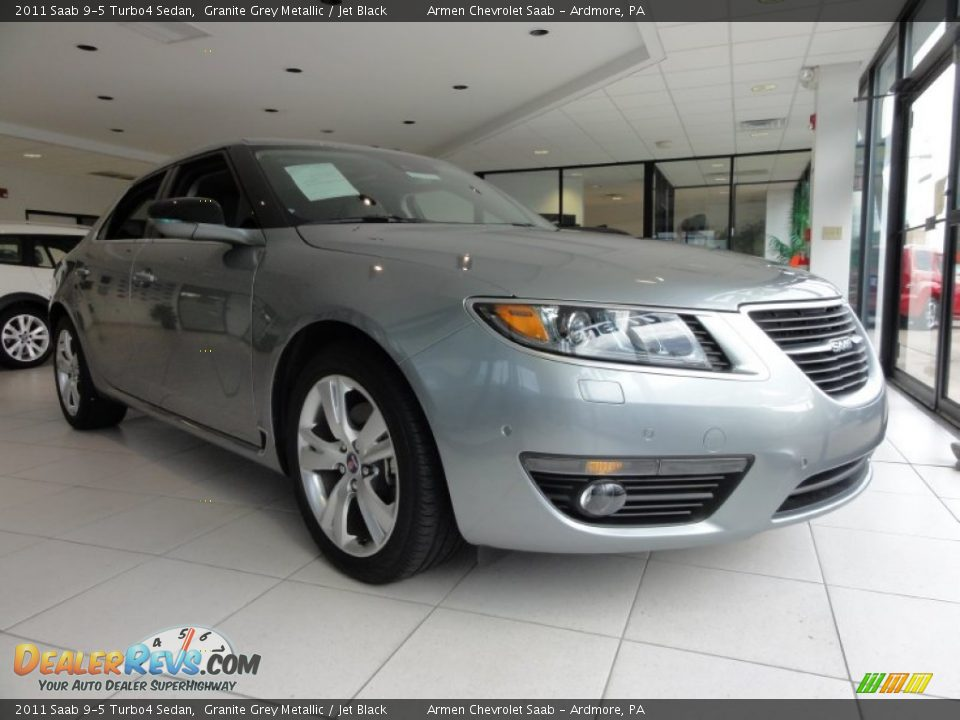 2011 saab 9 5 turbo4 sedan granite grey metallic jet. Black Bedroom Furniture Sets. Home Design Ideas