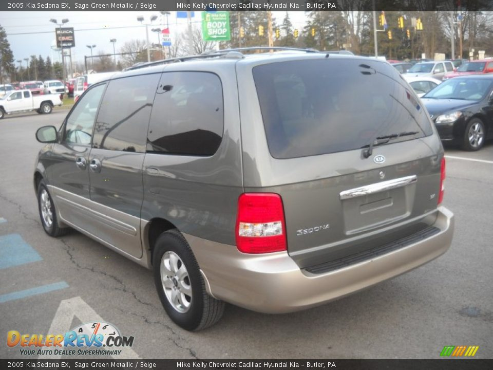 2005 Kia Sedona Ex Sage Green Metallic Beige Photo 5