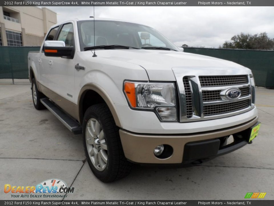2012 ford f150 king ranch supercrew 4x4 white platinum metallic tri coat king ranch chaparral. Black Bedroom Furniture Sets. Home Design Ideas