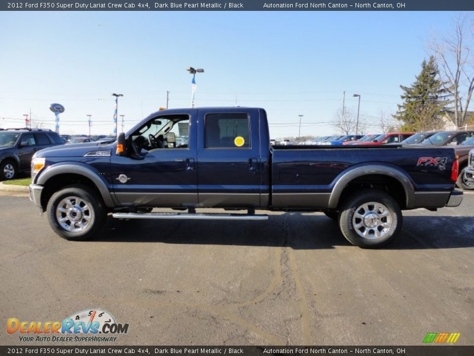 2012 ford f350 super duty lariat crew cab 4x4 dark blue pearl metallic black photo 2. Black Bedroom Furniture Sets. Home Design Ideas
