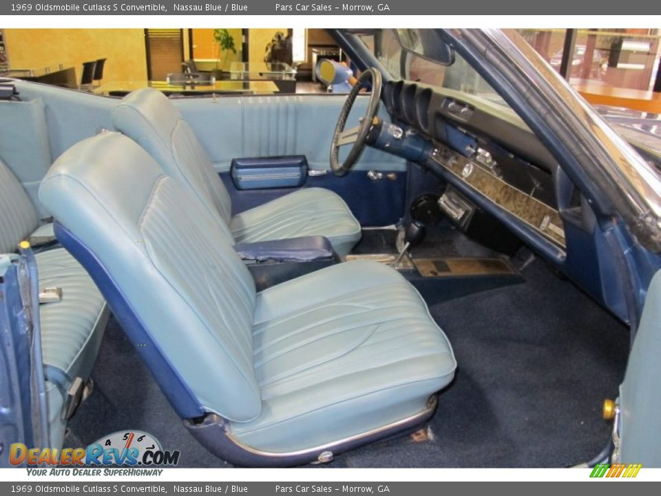 Blue Interior - 1969 Oldsmobile Cutlass S Convertible Photo #8