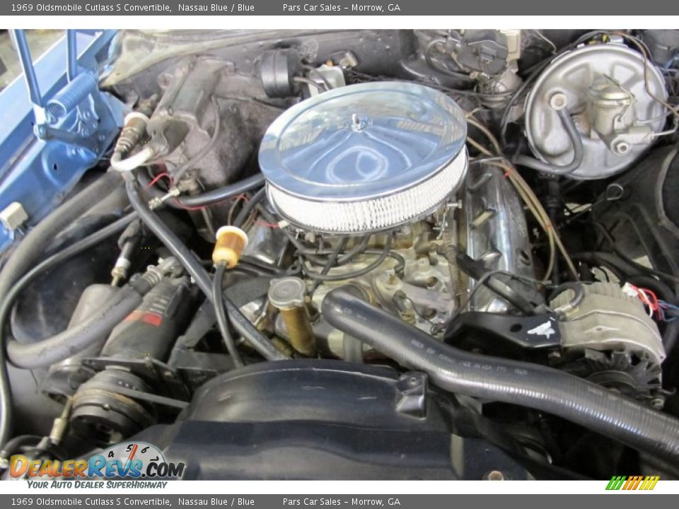1969 Oldsmobile Cutlass S Convertible V8 Engine Photo #10