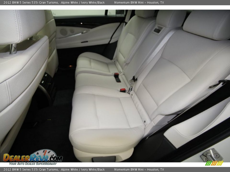 ivory white black interior 2012 bmw 5 series 535i gran turismo photo 11. Black Bedroom Furniture Sets. Home Design Ideas