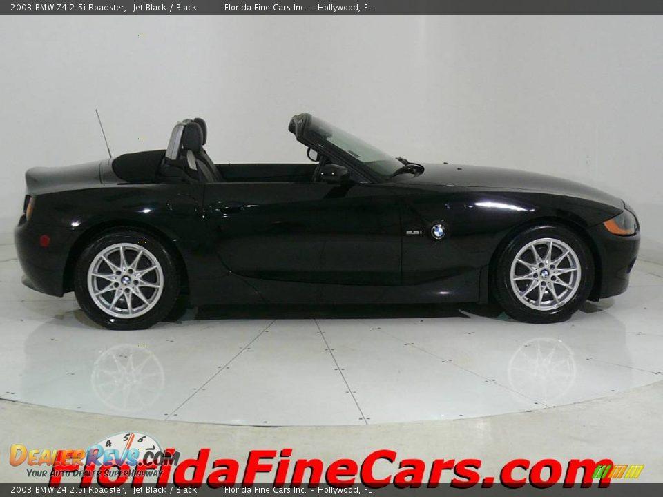 2003 Bmw Z4 2 5i Roadster Jet Black Black Photo 4