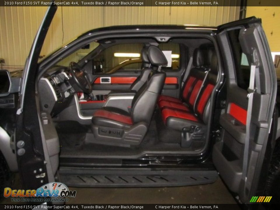 raptor blackorange interior 2010 ford f150 svt raptor supercab 4x4 photo 12 - Ford F150 Raptor Black Interior