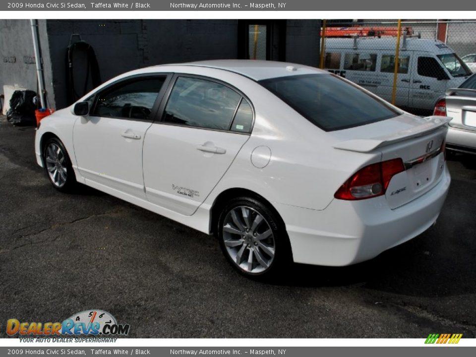2009 honda civic si sedan taffeta white black photo 3 for Honda civic si white