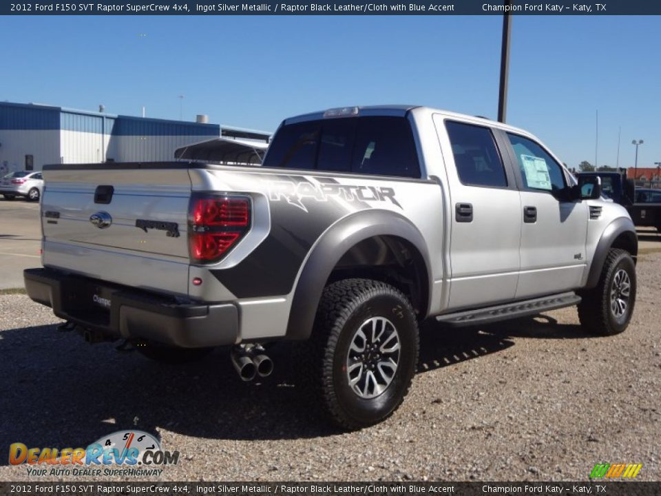 2012 ford f150 svt raptor supercrew 4x4 ingot silver metallic raptor black leather cloth with. Black Bedroom Furniture Sets. Home Design Ideas