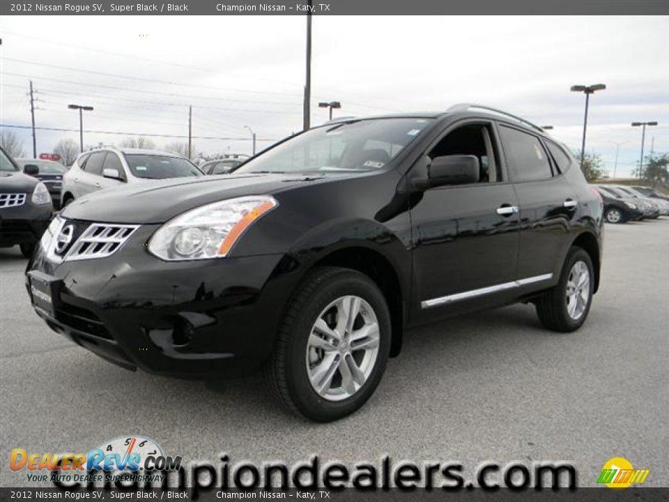 2012 Nissan Rogue Sv Super Black Black Photo 1