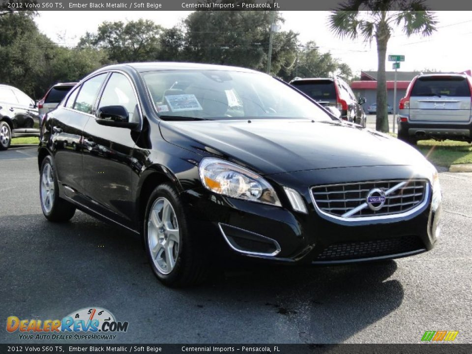 2012 volvo s60 t5 ember black metallic soft beige photo 3. Black Bedroom Furniture Sets. Home Design Ideas