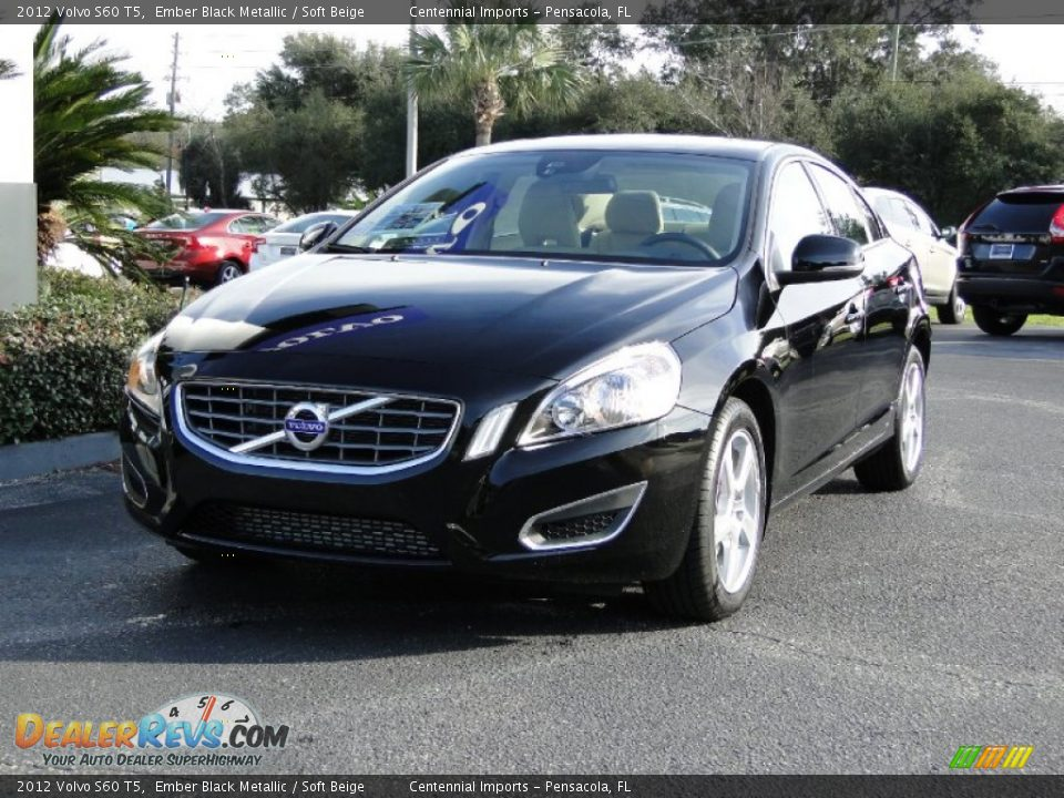 2012 volvo s60 t5 ember black metallic soft beige photo 5. Black Bedroom Furniture Sets. Home Design Ideas