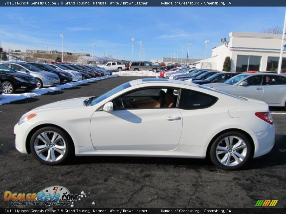 Karussell White 2011 Hyundai Genesis Coupe 3 8 Grand Touring Photo 7 Dealerrevs Com
