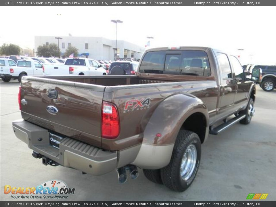2012 ford f350 super duty king ranch crew cab 4x4 dually golden bronze metallic chaparral. Black Bedroom Furniture Sets. Home Design Ideas
