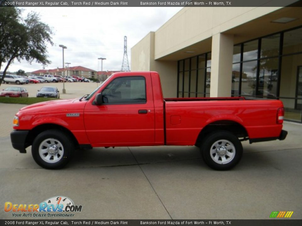 2008 Ford Ranger Xl Regular Cab Torch Red Medium Dark