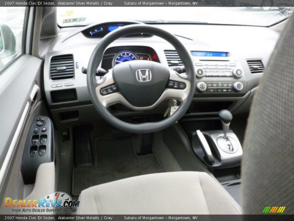 gray interior 2007 honda civic ex sedan photo 15. Black Bedroom Furniture Sets. Home Design Ideas
