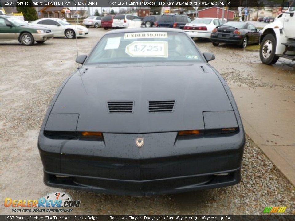 1987 Pontiac Firebird Gta Trans Am Black Beige Photo 8