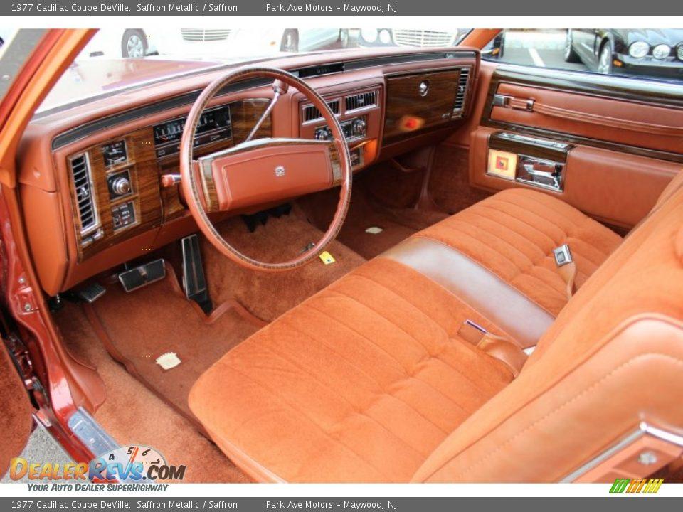 Saffron Interior 1977 Cadillac Coupe Deville Photo 11