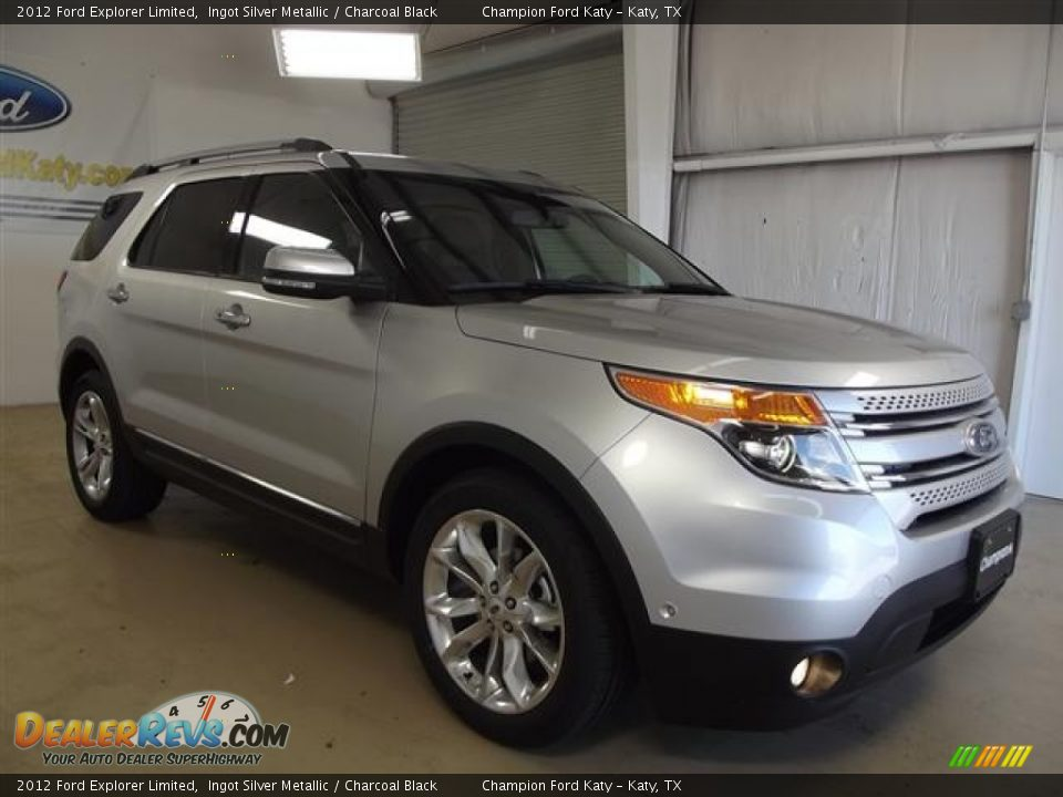 2012 Ford Explorer Limited Ingot Silver Metallic / Charcoal Black Photo #3