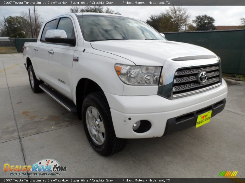 2007 toyota tundra limited crewmax 4x4 super white graphite gray photo 1. Black Bedroom Furniture Sets. Home Design Ideas