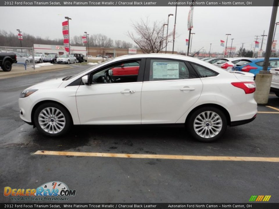 2012 Ford Focus Titanium Sedan White Platinum Tricoat