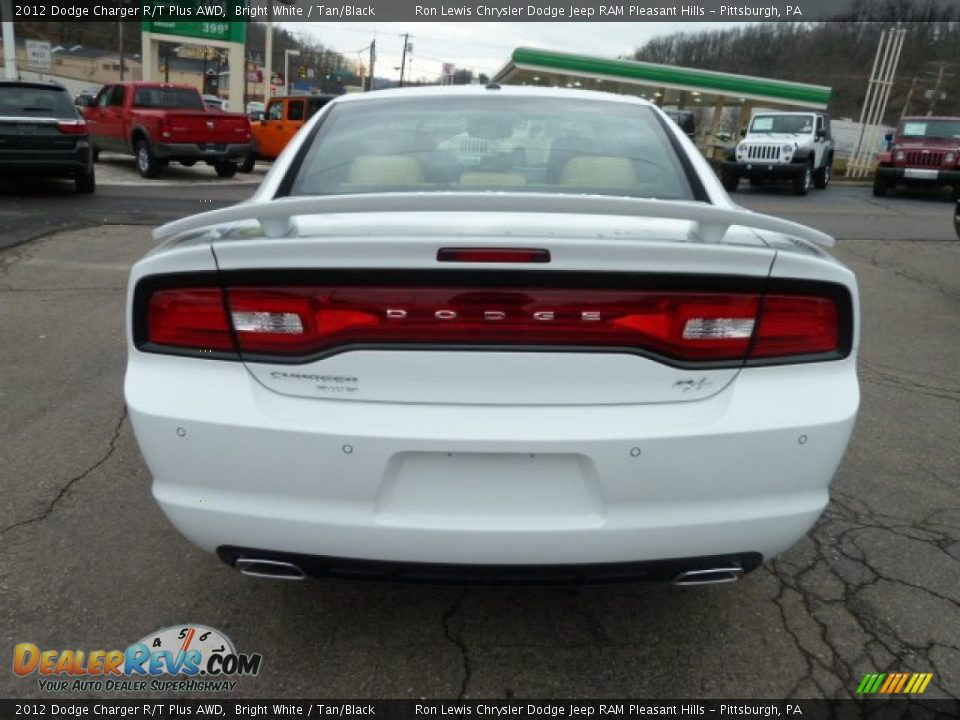 2012 dodge charger r t plus awd bright white tan black. Black Bedroom Furniture Sets. Home Design Ideas