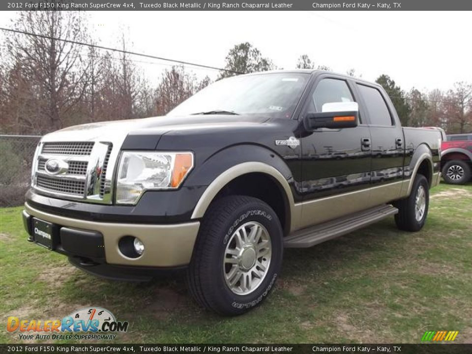 2012 ford f150 king ranch supercrew 4x4 tuxedo black metallic king ranch chaparral leather. Black Bedroom Furniture Sets. Home Design Ideas