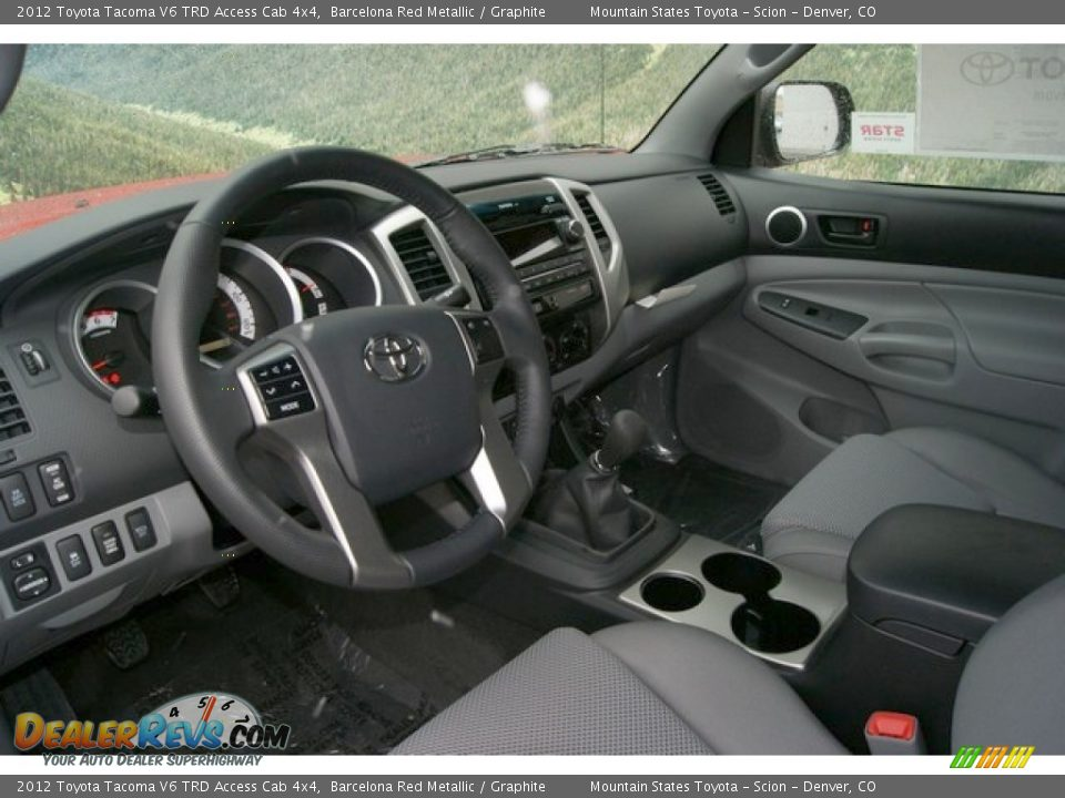 graphite interior 2012 toyota tacoma v6 trd access cab. Black Bedroom Furniture Sets. Home Design Ideas