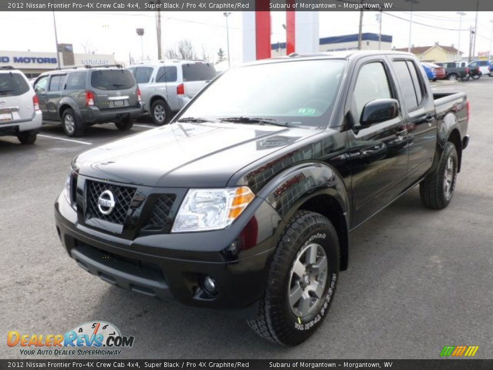 2012 nissan frontier pro 4x crew cab 4x4 super black pro 4x graphite red photo 3. Black Bedroom Furniture Sets. Home Design Ideas