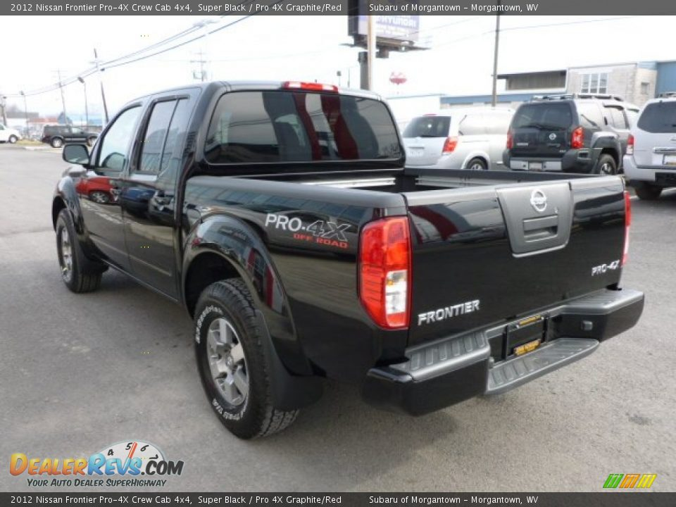 2012 nissan frontier pro 4x crew cab 4x4 super black pro 4x graphite red photo 5. Black Bedroom Furniture Sets. Home Design Ideas