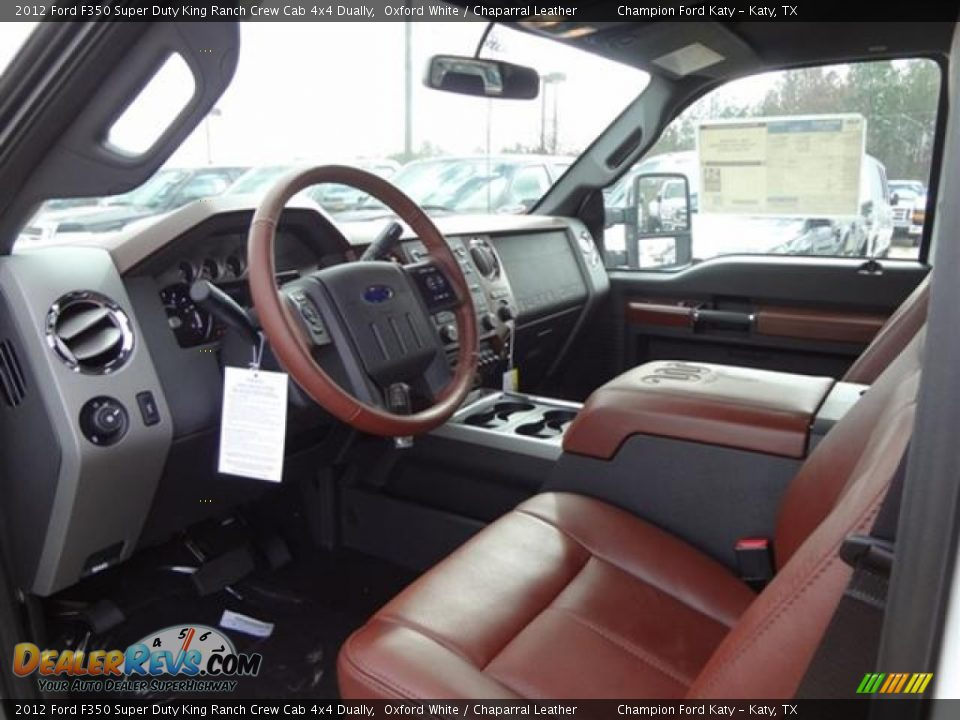 Chaparral leather interior 2012 ford f350 super duty king ranch crew cab 4x4 dually photo 11