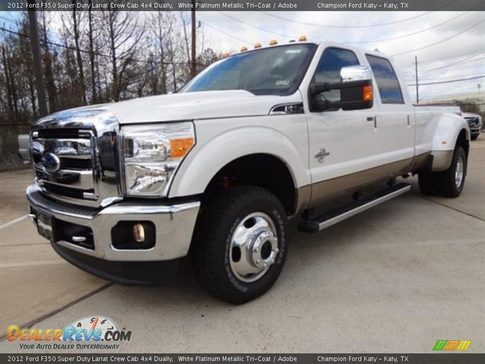 2012 ford f350 super duty lariat crew cab 4x4 dually white. Black Bedroom Furniture Sets. Home Design Ideas
