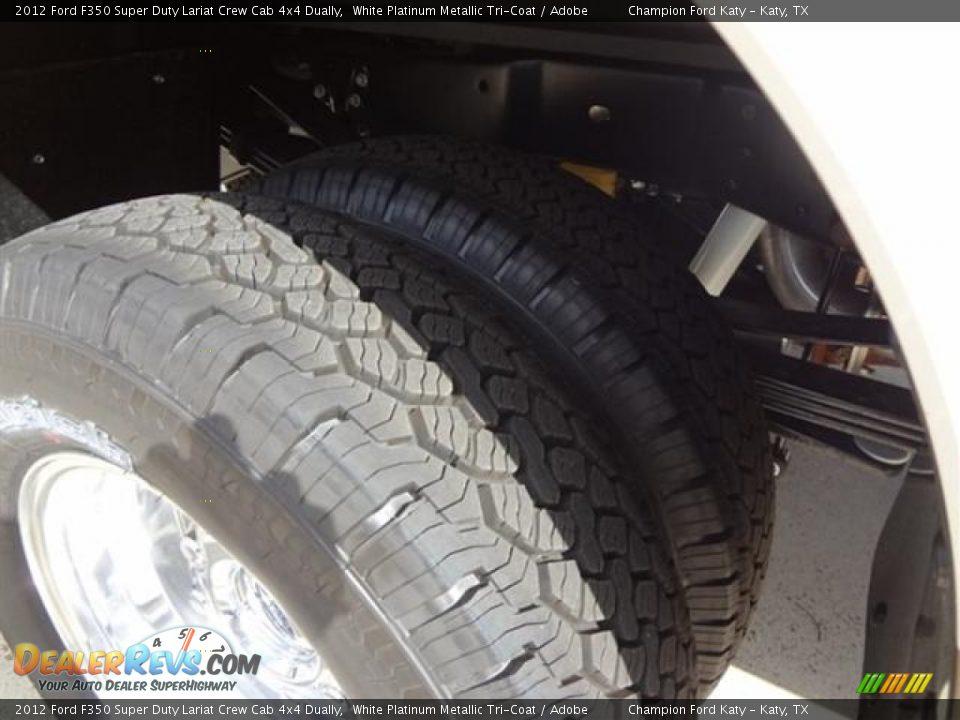 2012 ford f350 super duty lariat crew cab 4x4 dually white platinum metallic tri coat adobe