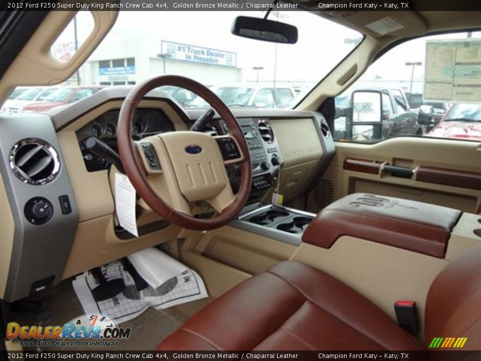 Chaparral Leather Interior 2012 Ford F250 Super Duty King Ranch Crew Cab 4x4 Photo 12