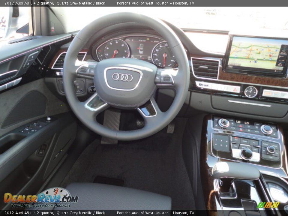 2012 Audi A8 L 4 2 Quattro Quartz Grey Metallic Black