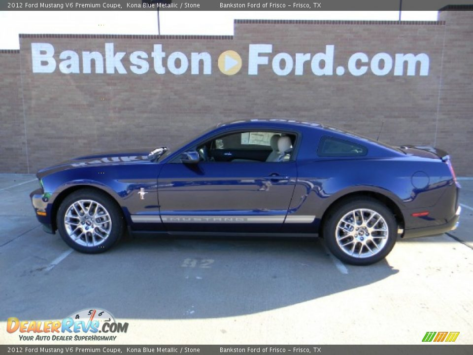 2012 ford mustang v6 premium coupe kona blue metallic stone photo 6. Black Bedroom Furniture Sets. Home Design Ideas