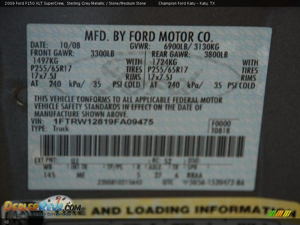Ford Sterling Gray Metallic Paint Code