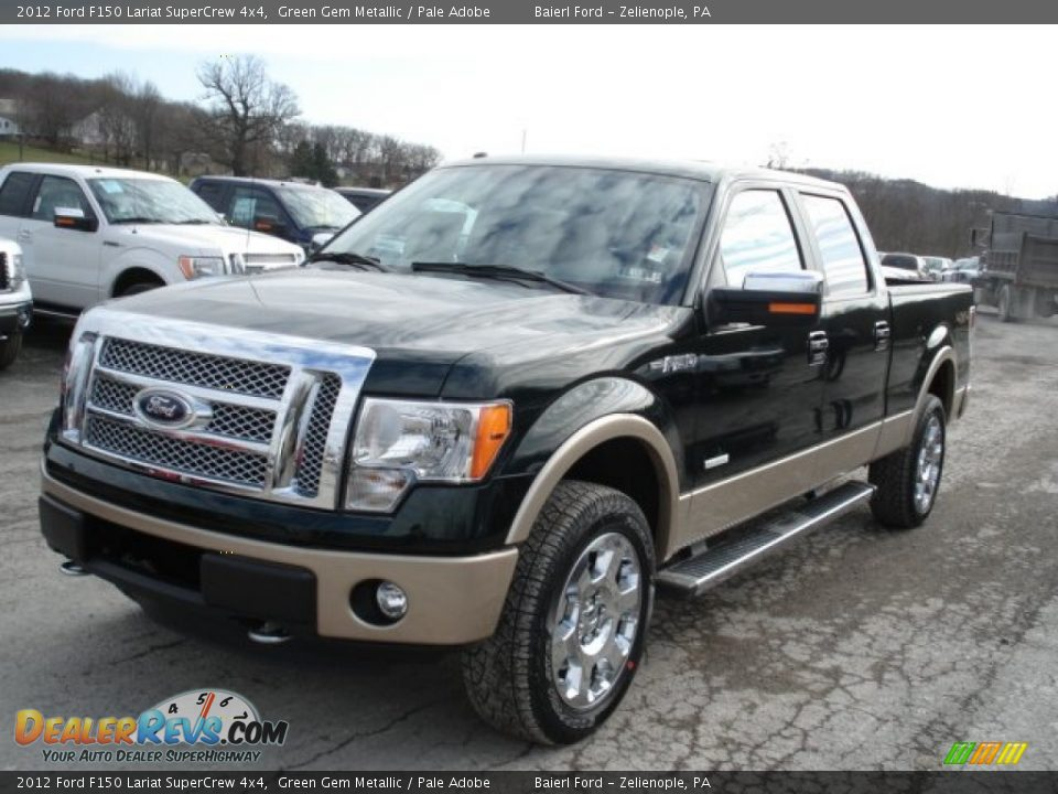 2012 ford f150 lariat supercrew 4x4 green gem metallic pale adobe photo 4. Black Bedroom Furniture Sets. Home Design Ideas