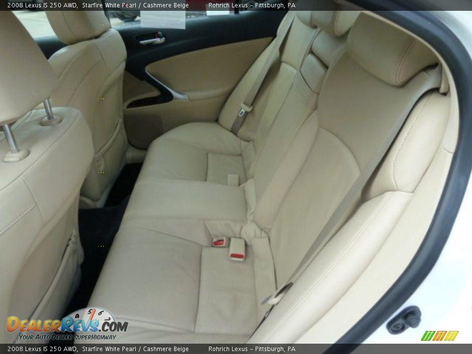 Cashmere Beige Interior 2008 Lexus Is 250 Awd Photo 9
