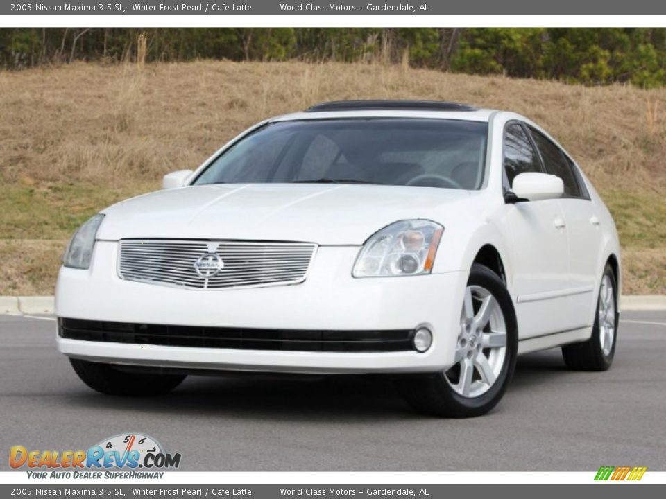 2005 nissan maxima 3 5 sl winter frost pearl cafe latte photo 4. Black Bedroom Furniture Sets. Home Design Ideas