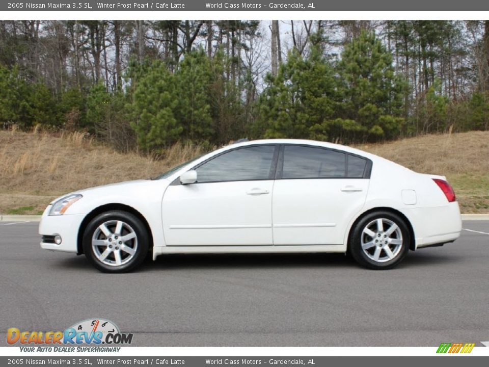 2005 nissan maxima 3 5 sl winter frost pearl cafe latte. Black Bedroom Furniture Sets. Home Design Ideas