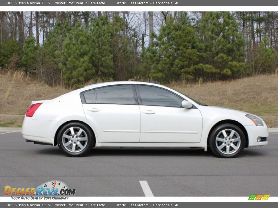 2005 nissan maxima 3 5 sl winter frost pearl cafe latte photo 26. Black Bedroom Furniture Sets. Home Design Ideas