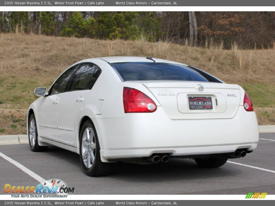 2005 nissan maxima 3 5 sl winter frost pearl cafe latte photo 28. Black Bedroom Furniture Sets. Home Design Ideas