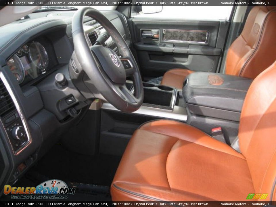 Dark slate gray russet brown interior 2011 dodge ram - Dodge ram 2500 laramie longhorn interior ...